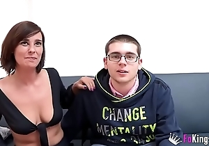 Young guy meets his tails of Natalia and is deflowered by her