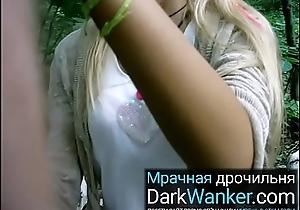 Amateur russian open-air porn girl blows cum go for blowjob