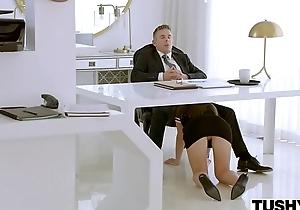 TUSHY Doodah Makes Her Chief honcho Work For Anal