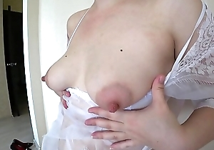 Silver-tongued blonde masturbates hairy pussy through white panties to orgasm, milk heart of hearts with the addition of appetizing ass.