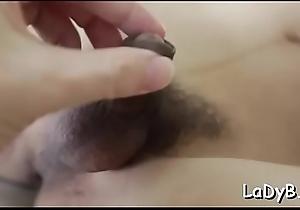Slim asian shelady gets her narrow butthole poked inexact