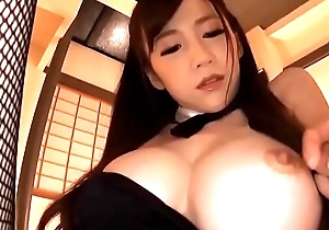 asian hot milf cosplayed bunny unshaded