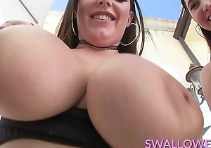 SWALLOWED Karlee Grey together with Angela White deepthroat life-span