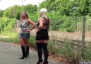 Deutsche Mutter und Stief Tochter arbeiten als Strassen Hure