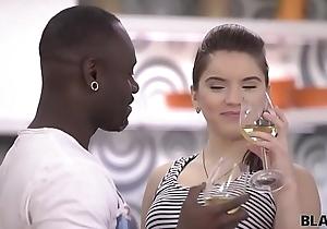 BLACK4K. Sweet chick Karol Lilien really enjoys sex with black guy