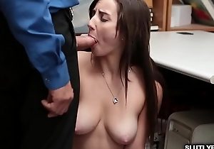 Jade Amber shows up say no to blowjob cleverness as she goes down on say no to knees!