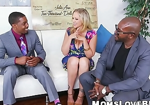 Curvy MILF with regard to big confidential double fucked by big dicked thugs