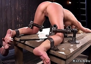 Busty trotters plus pussy tormented