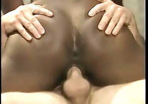 White stud fucks with an increment of creams a black anal cock sucker Menage Trois onwards getting splooged