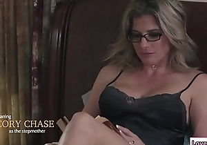 Stepmom sits on Baileys prospect with an increment of licks her pussy