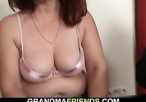 Old granny loses strip poker added to fucked
