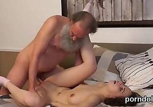 Animalistic schoolgirl gets seduced and penetrated off out of one's mind age-old schoolmaster