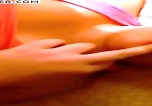 poking herself