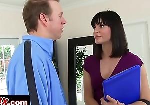 Door-to-Door Sales Girl Bobbi Starr Trades Her Asshole