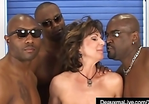 Busty Mature Cougar Deauxma Fucked In Irritant By 3 Louring Cocks!