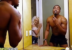 TRYBANG - Vest-pocket Elsa Jean Falling In Love With Isiah Maxwell'_s Fat Black Cock, One Inch At A while