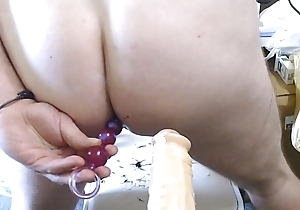 Butt cheeks up close joeyd lovin anal DP beads and on all sides