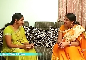 Hot Telugu Aunty Enjoying with his Novitiate Friend matey