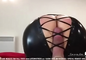 Black latex fuzz ball poppet tease cock - 424cams.net