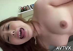 Mind-blowing increased by wild fucking in all directions sexy asian coupler