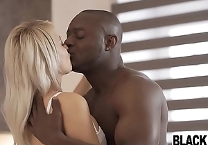 Sexy blonde Euro chick Katy In top form boned away from a black unearth