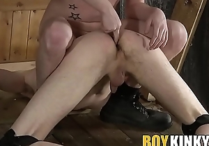 Big detect dom anally disciplines twink and marks him with cum