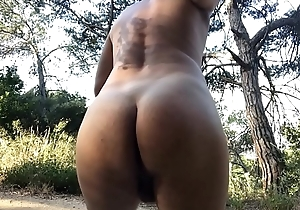 Fucking my pussy lad ass in the mountains