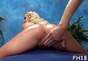Staggering chick plays with guy'_s cock by fingertips and face hole
