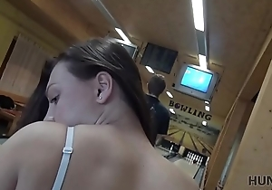 HUNT4K. Guy penetrates adorable beauty while cuckold plays bowling