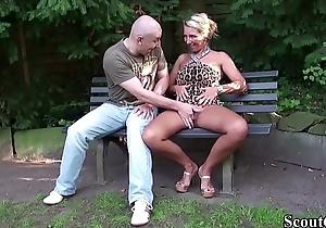 German Big Tits MILF Seduce Stranger round Fuck nearby Park