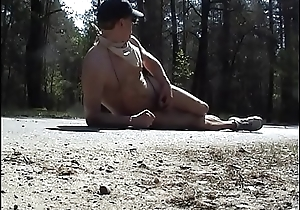 Humping and cumming scanty on the street