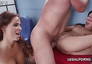 Horny Sluts Nicole Black &amp_ Syren De Mer Hooey Deep Anal, DAP, GAPES plus FISTING