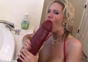 Busty golden-haired milf zoe fills her risqu� fissure with a Herculean marital-device