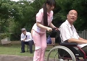 Subtitled perverse japanese half undecorated caregiver outdoors