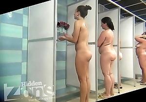 Objet de virtu in the women's shower section
