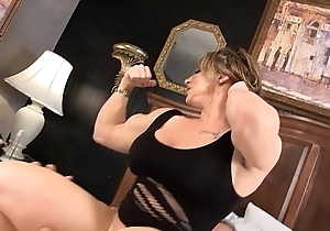 Eroticmusclevideos brandimae dominates and pegs immodest grey guy