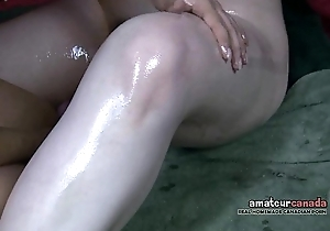 Asian gf added to collared soaked unshaved resigned cums with horrify bagatelle