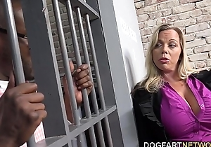 Amber lynn bach bonks a sombre scantling in a prison