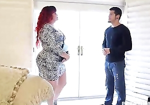 Redhead pawg marcy diamond copulates youthful guy