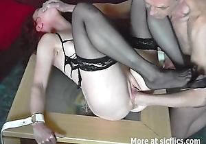 Amateur slutwife fist drilled in vassalage