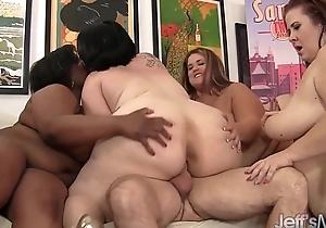 Bbw reverse group-sex