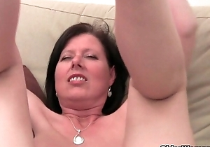 Aged unreserved with fat adore melons plus thick-skulled stack masturbates