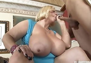 Two hot breasty bbw milfs have sexual intercourse hawt guy