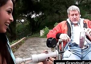 Teen uses vacuum pump on seniors weenie