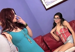 Hot babysitter double teamed off out of one's mind housewife and spouse!