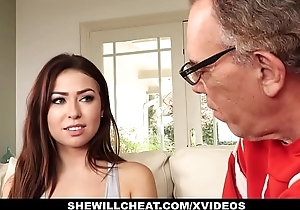 Shewillcheat- cuckold hubby watches down in the mouth slutty wife lady-love bbc