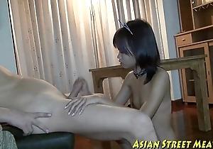 Clean living thai slum woman has bottom pentrated