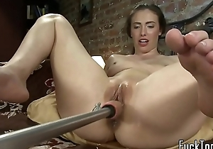 Masturbating dilettante squirts possessions toyed