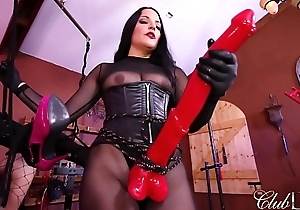 Mistress michelle has lots of horse-power/caned as an double