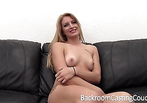 Tall smart blond painful anal coupled with creampie casting